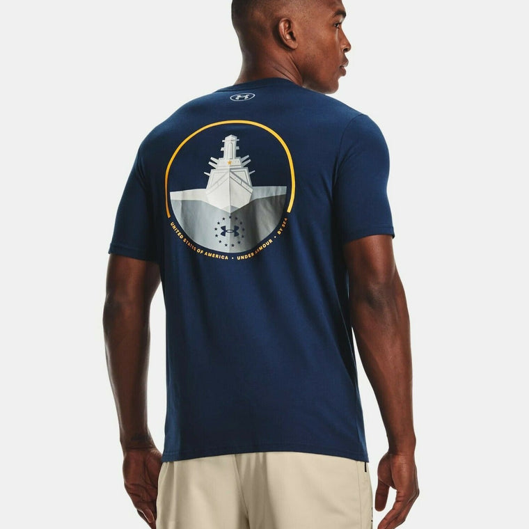 Under Armour Men's UA Freedom By Sea T-Shirt - Academy/Steeltown Gold