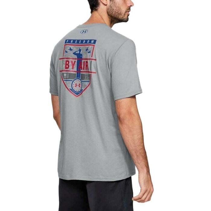 Under Armour Men's UA Freedom By Air Graphic T-Shirt - Steel