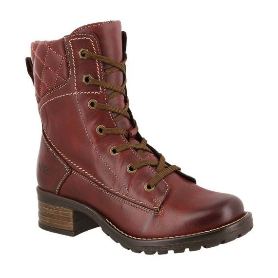 Taos Women's Factor Lace-Up Boot - Deep Red