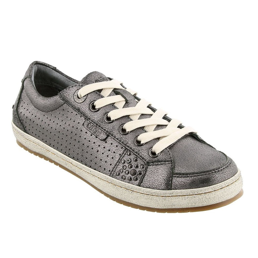 Women's Taos Freedom Leather Sneaker - Pewter