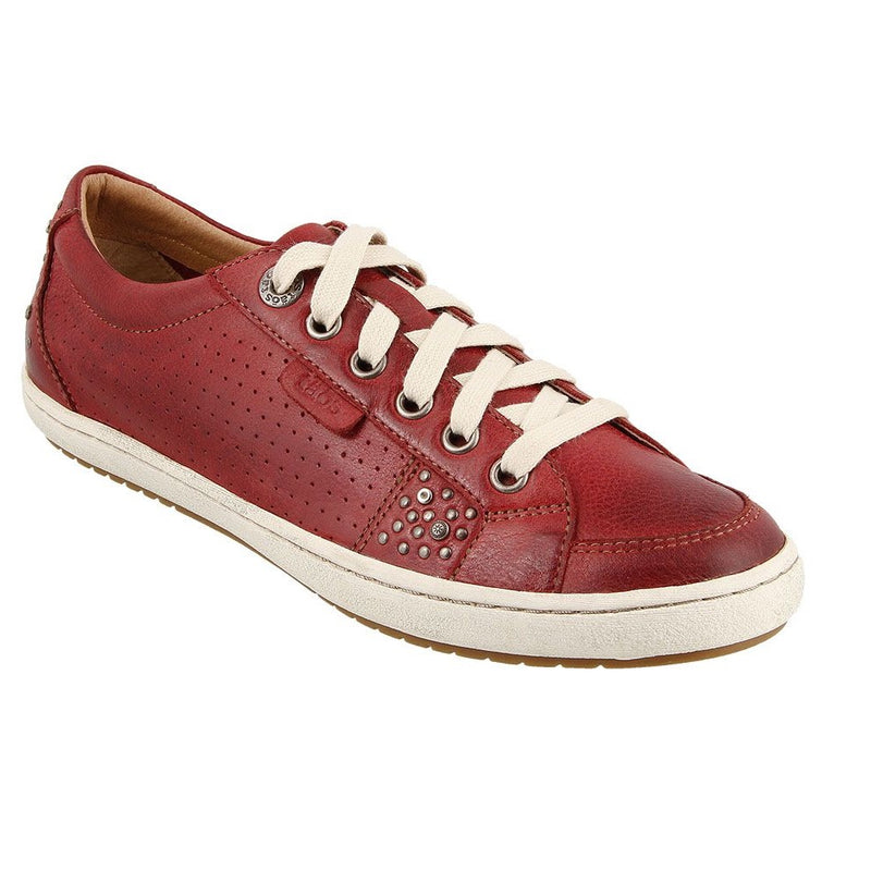Women's Taos Freedom Leather Sneaker - Red