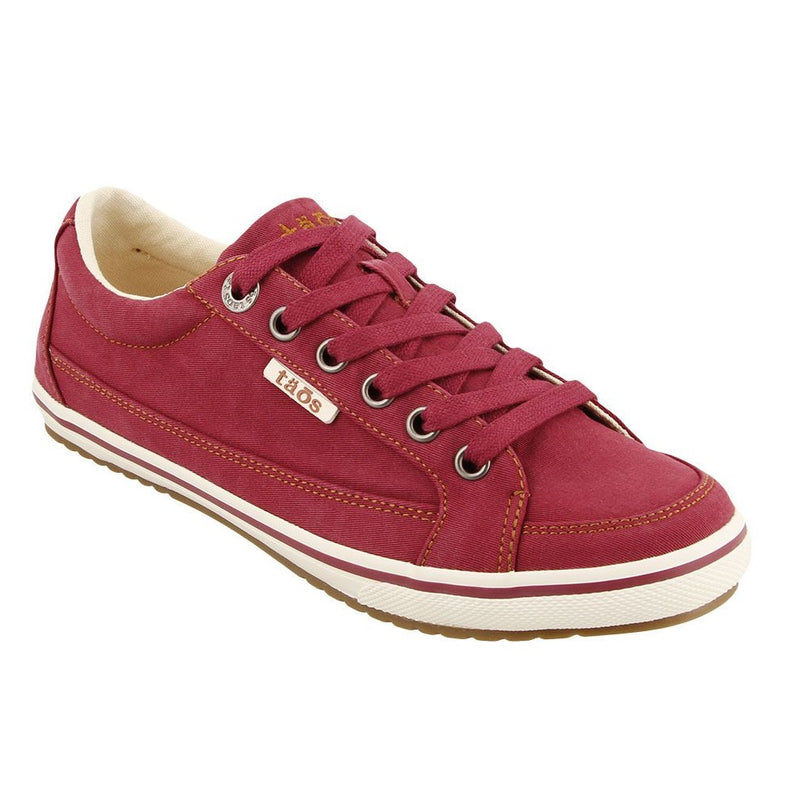 Women's Taos Moc Star Sneaker - Red Distressed