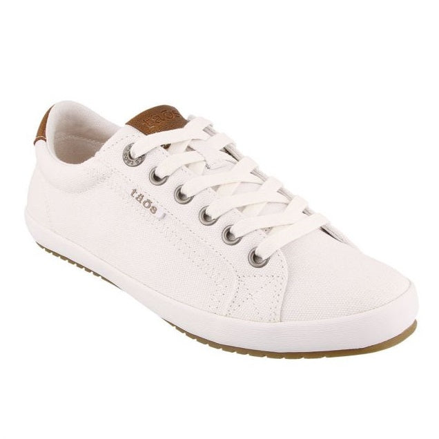 Women's Taos Star Burst Sneaker - White/Tan