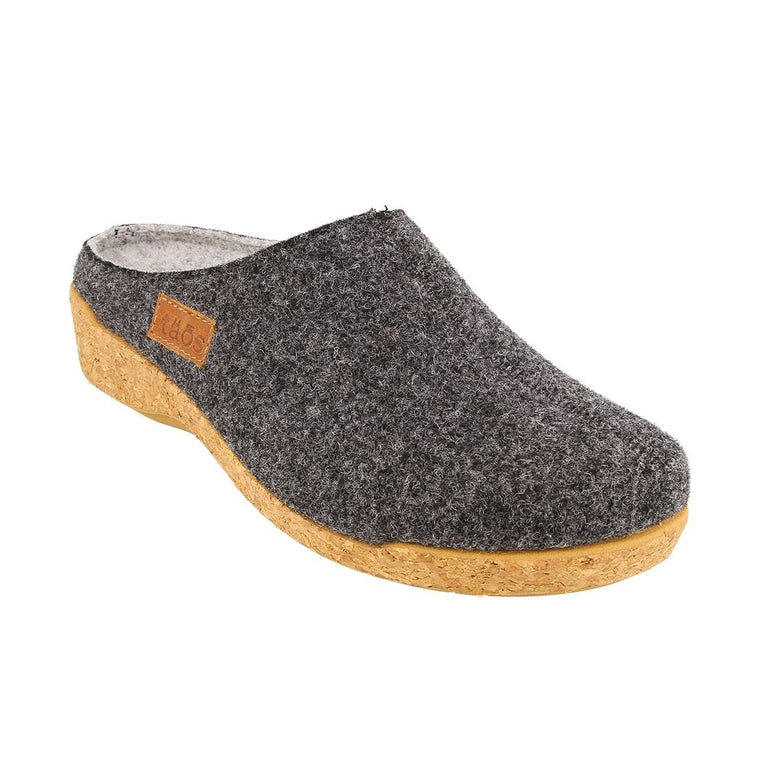 Taos Women's Woollery Clogs - Charcoal