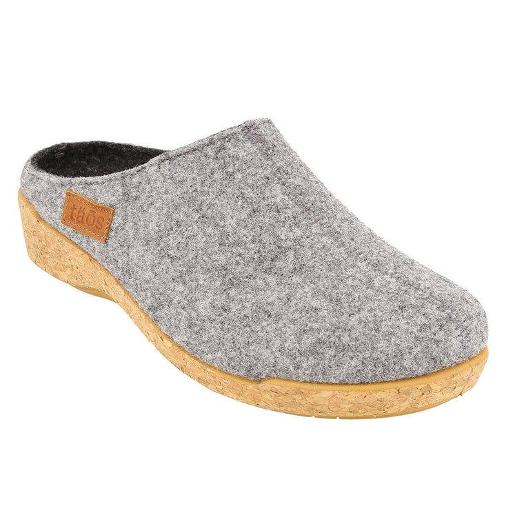 Taos Women's Woollery Clogs - Grey