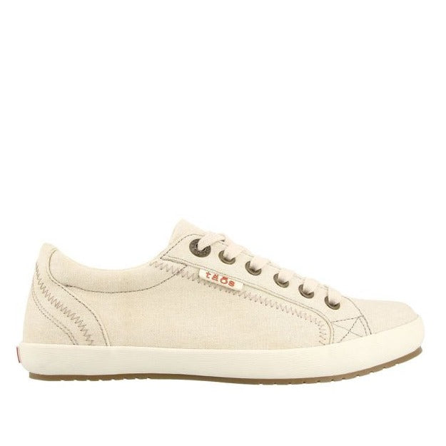 Women's Taos Star Sneaker - Beige Wash Canvas