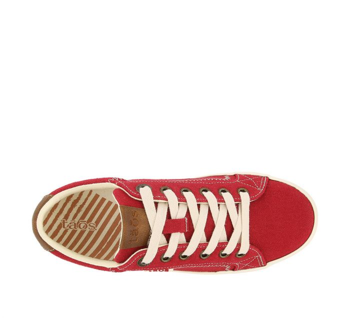 Taos Women's Star Burst Sneaker - Red/Tan