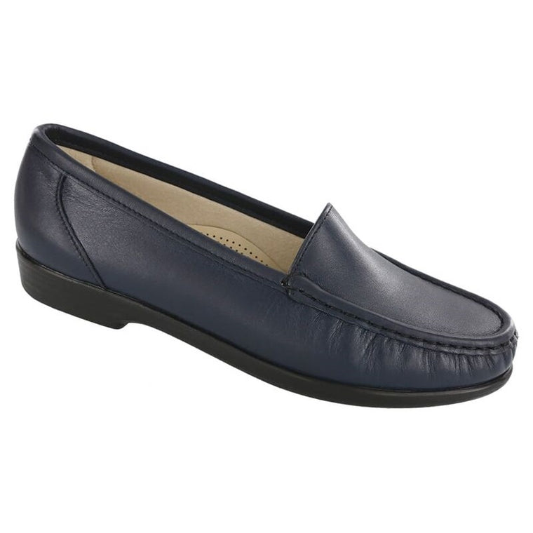 SAS Women's Simplify Slip On Loafer - Navy