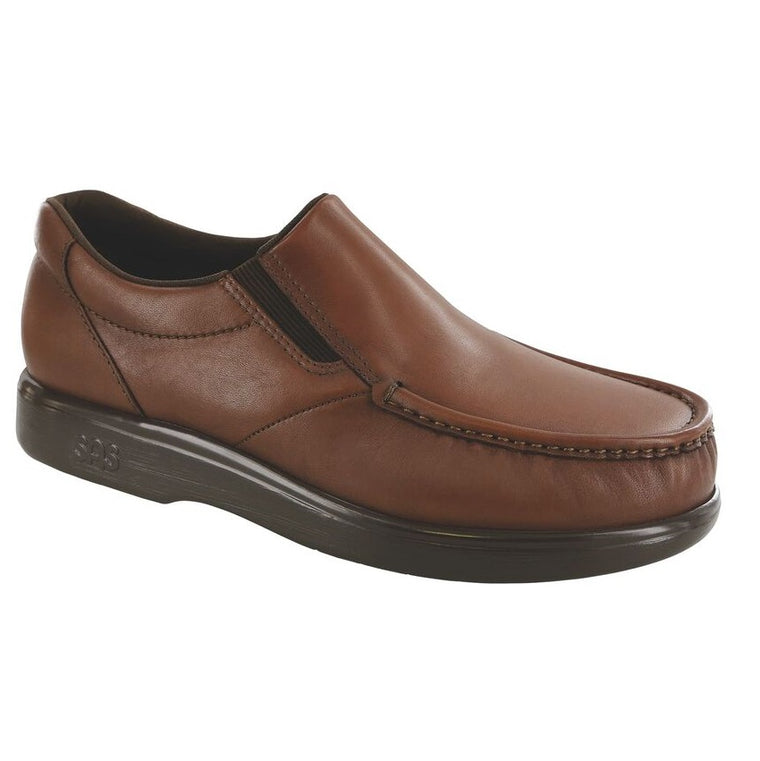 SAS Men's Side Gore Slip On Loafer - Brown