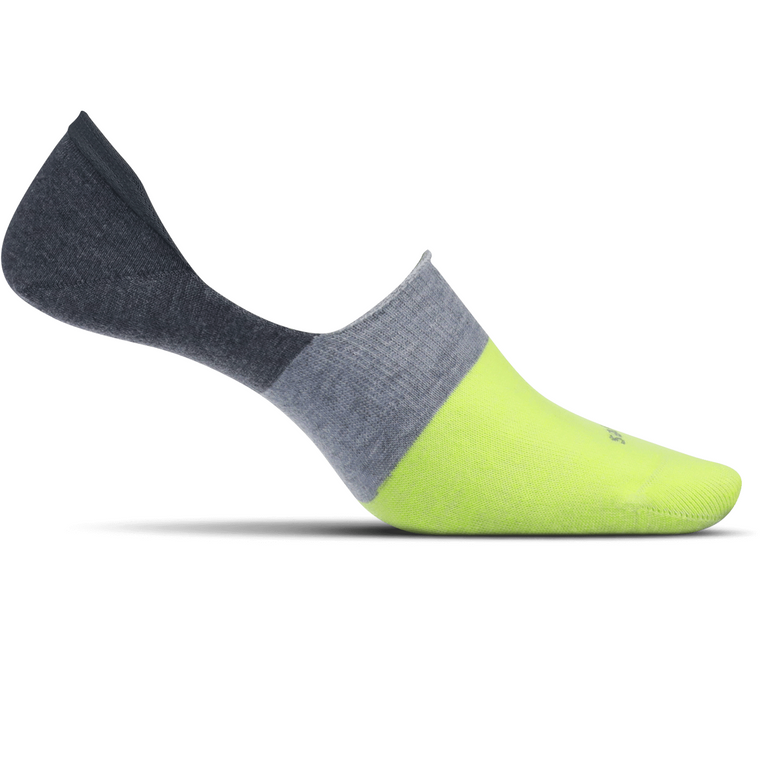 Feetures Men's Hidden Colorblock Socks - Lime