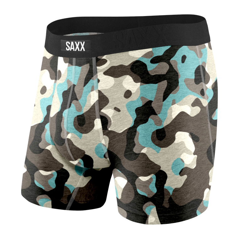 SAXX Men's Undercover Boxer Brief Underwear - Black Boulder Camo