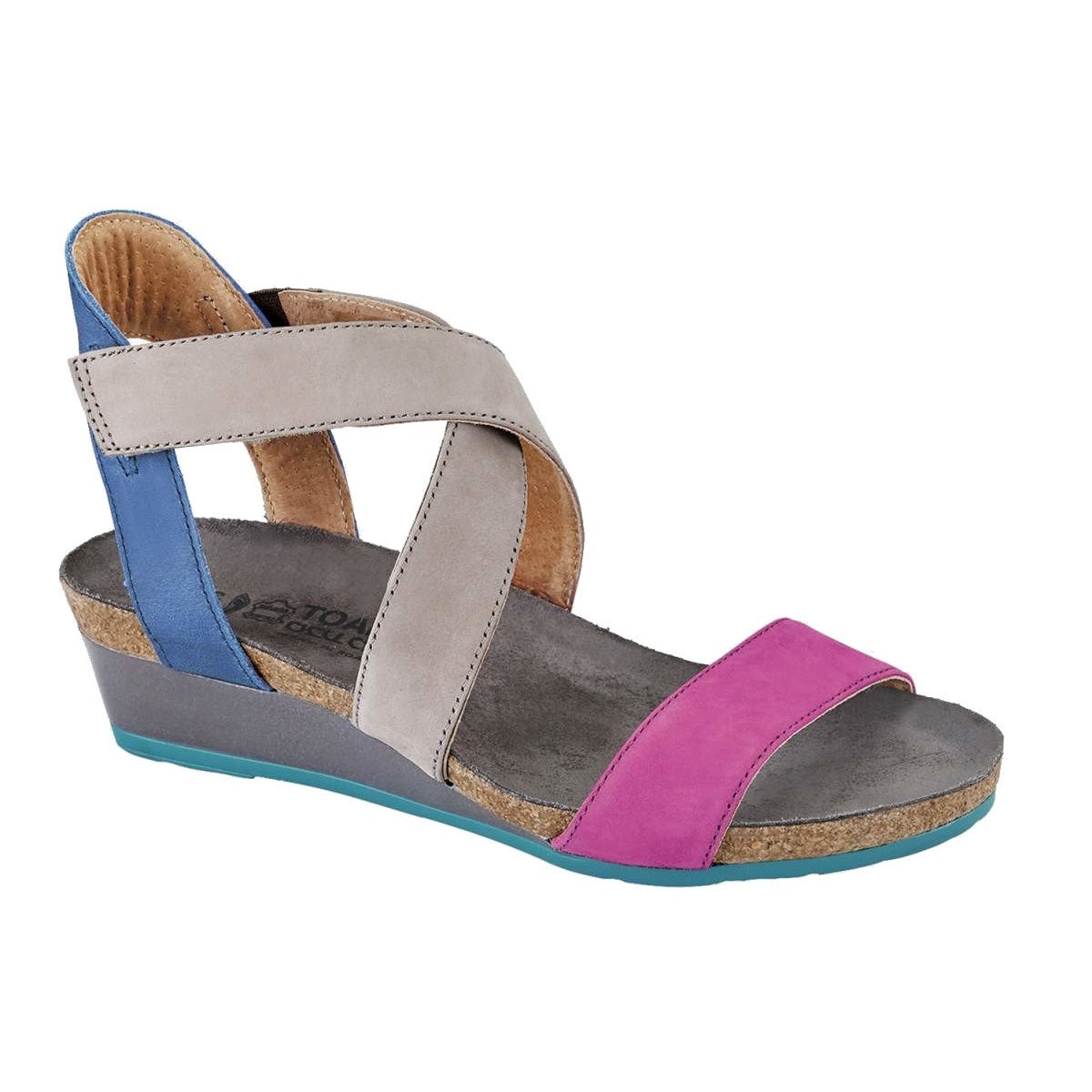 Women's Vixen Wedge Sandal - Pink Plum/Stone/Oily Blue