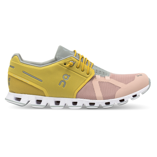 Women's On Cloud 50 | 50 Running Shoes - Mustard/Rose