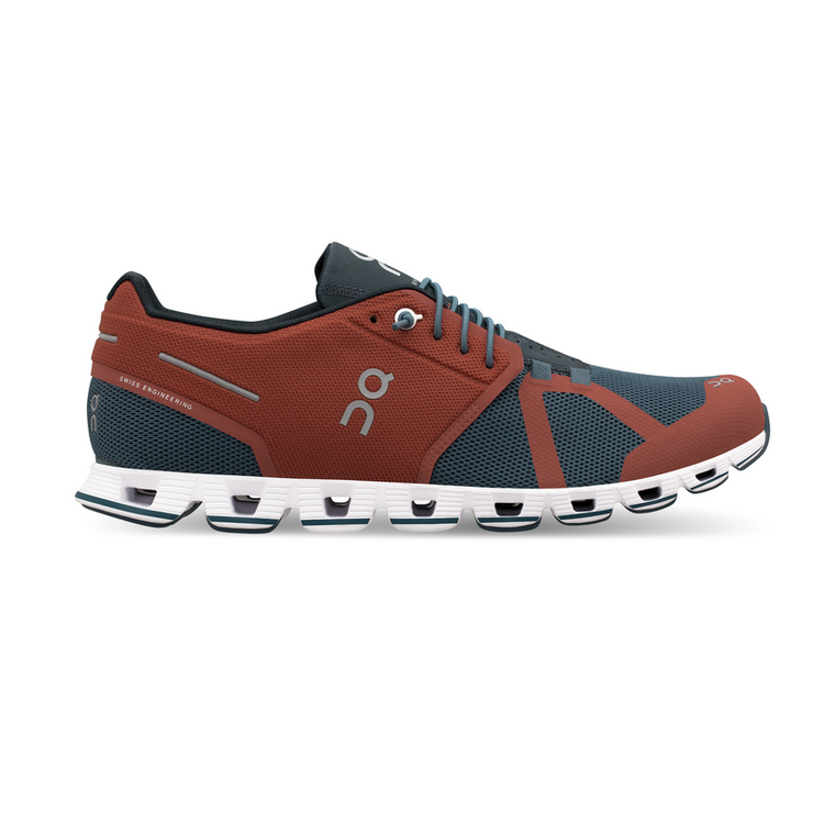 Men's On Cloud Running Shoes - Rust/Fjord