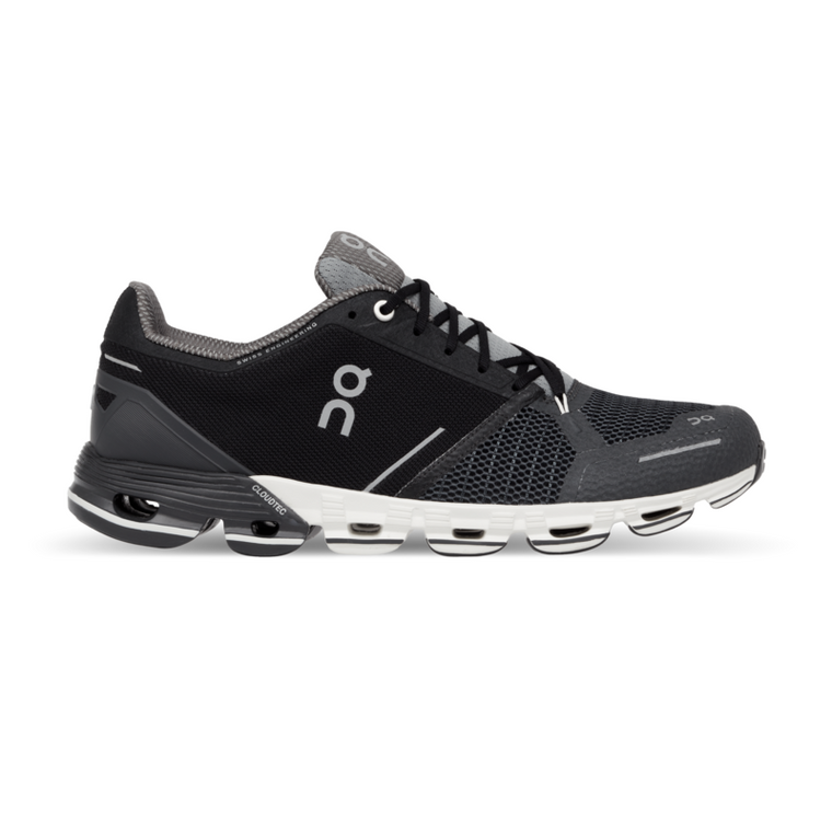 Men's On Cloudflyer Running Shoes - Black/White