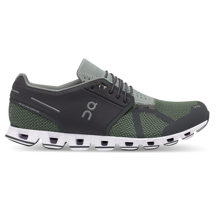Men's On Cloud Running Shoes - Rock/Leaf