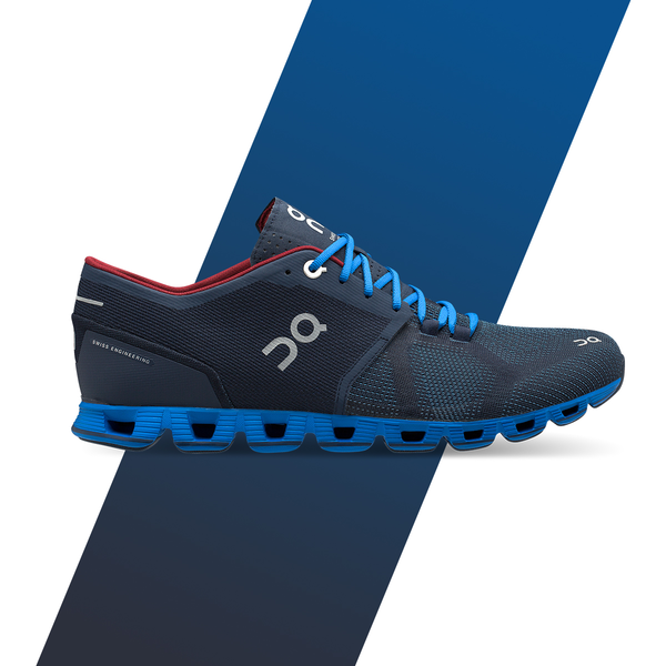 Men's On Cloud X Running Shoes - Midnight/Cobalt