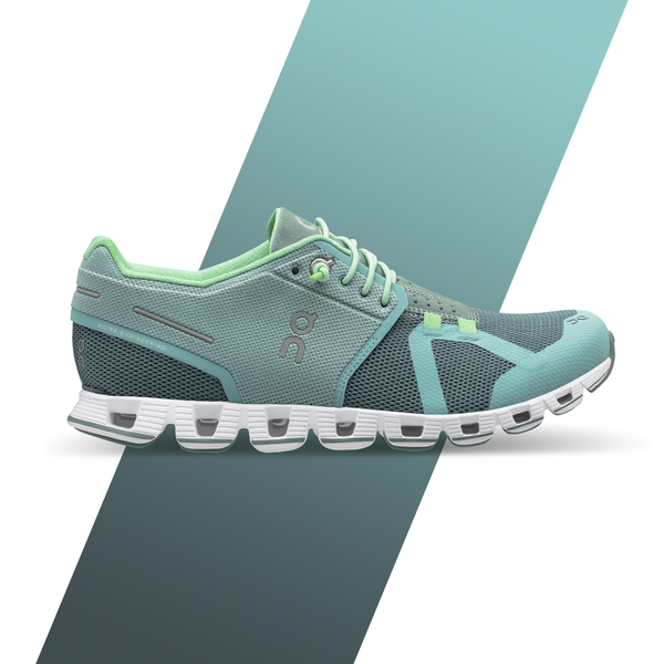 Women's On Cloud Running Shoes - Sea/Spray