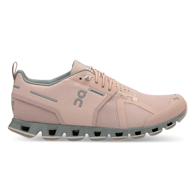 Women's On Cloud Waterproof Running Shoes - Rose/Lunar