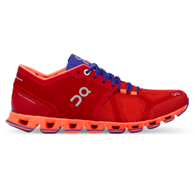 Women's On Cloud X Running Shoes - Red/Flash