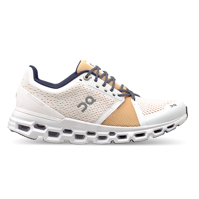 Women's On Cloudstratus Running Shoes - White/Almond