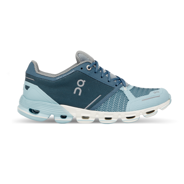 Women's On Cloudflyer Running Shoes - Aqua/White