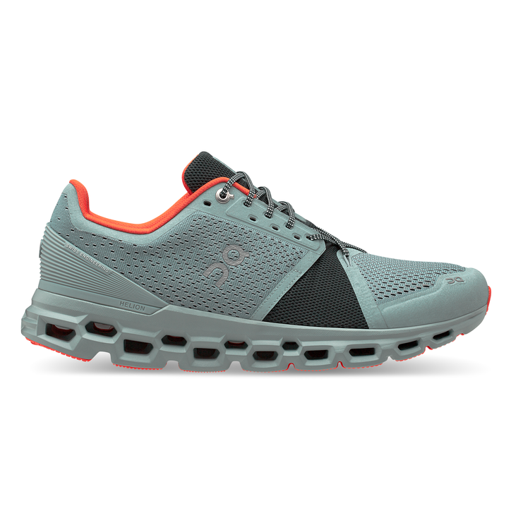 Men's On Cloudstratus Running Shoes - Cobble/Ivy