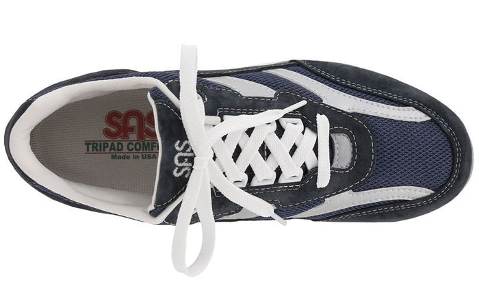 Women's SAS Tour Mesh Lace Up Sneaker - Blue