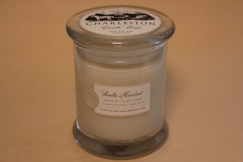 Vanilla hazelnut candle handmade with natural soy wax.