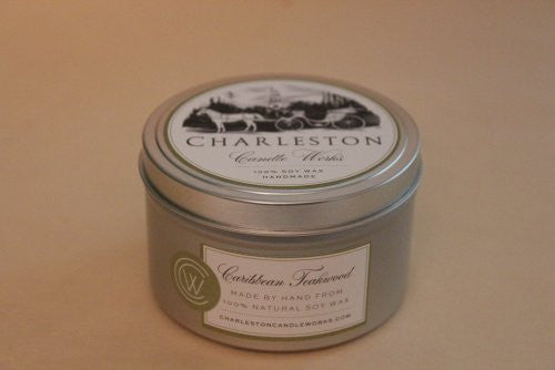 Tin candle made with 100% natural soy wax and hand made.