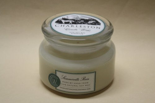 Summerville rain candle blended with jasmine, handmade and natural soy wax.