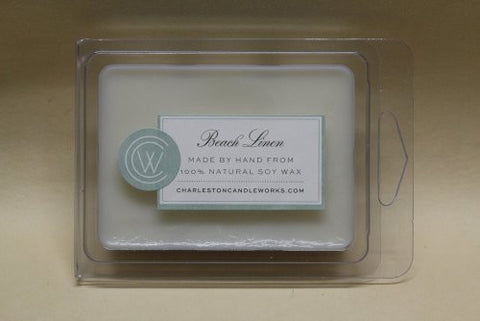 Beach linen wax melt that captures the scent of clothes dried on a line at the beach