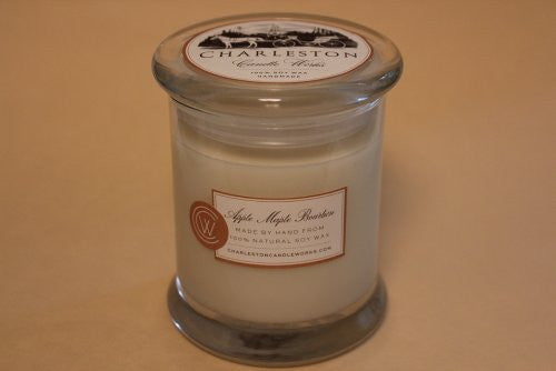 12oz soy candle, apple maple bourbon.