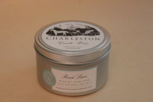 8oz beach linen soy candle that's incredibly fresh smelling.