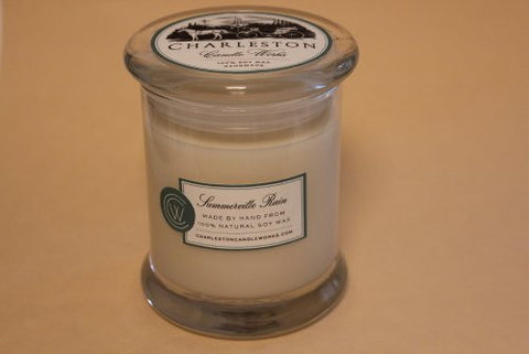 Summerville rain candle, handmade from natural soy wax.