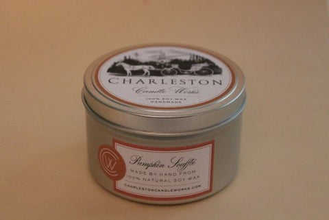 Handmade candle tin that smells like Pumpkin.