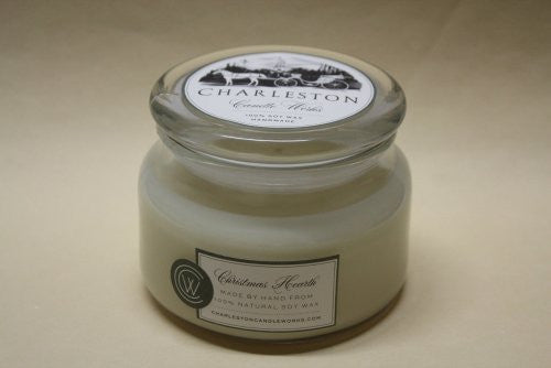 Soy candle 8oz Christmas Hearth which is a classic for the Christmas holiday.
