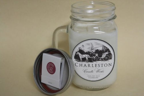 Soy citronella candle, handmade with 100% natural soy wax.