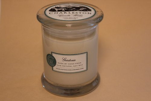 Gardenia soy candle that smells just like the flowering plant.