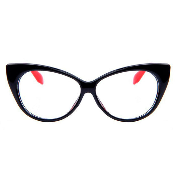 Clear Glasses - Candy - Black & Red