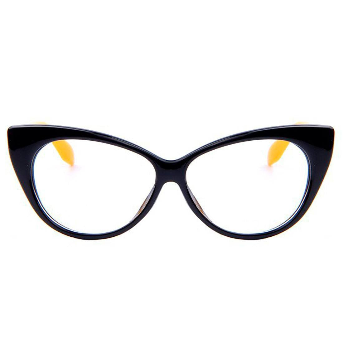 Clear Glasses - Candy - Black & Yellow