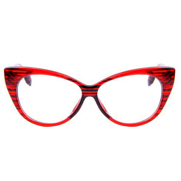 Clear Glasses - Candy - Red