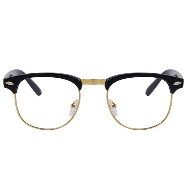 Clear Glasses - Clear Amber - Black & Gold