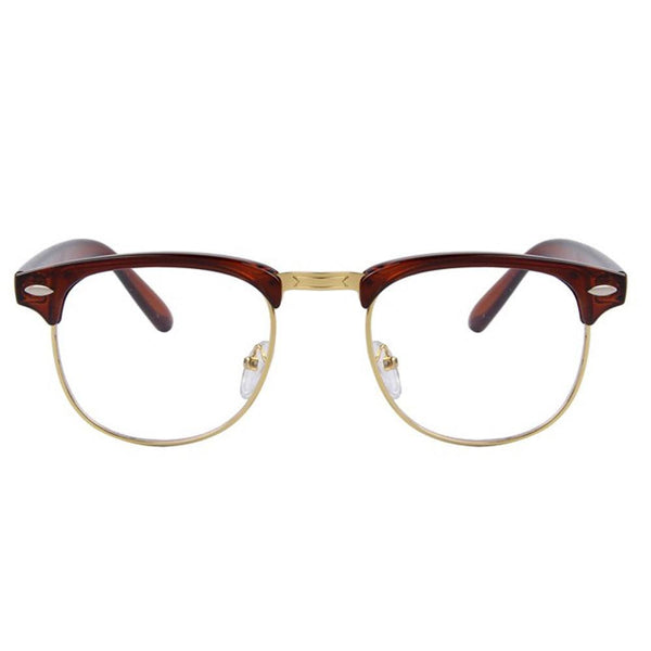 Clear Glasses - Clear Amber - Brown