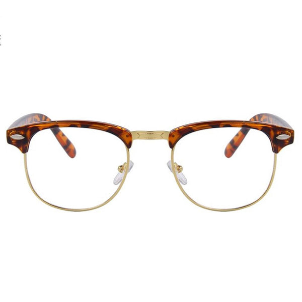 Clear Glasses - Clear Amber - Leopard