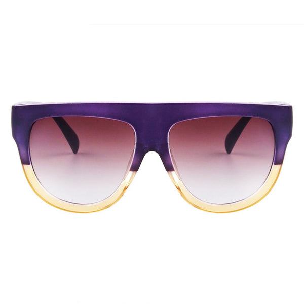 Sunglasses - Choco Latte - Purple & Yellow