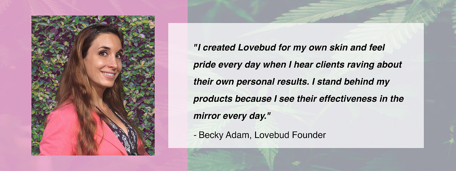 Lovebud Founder Becky Adam