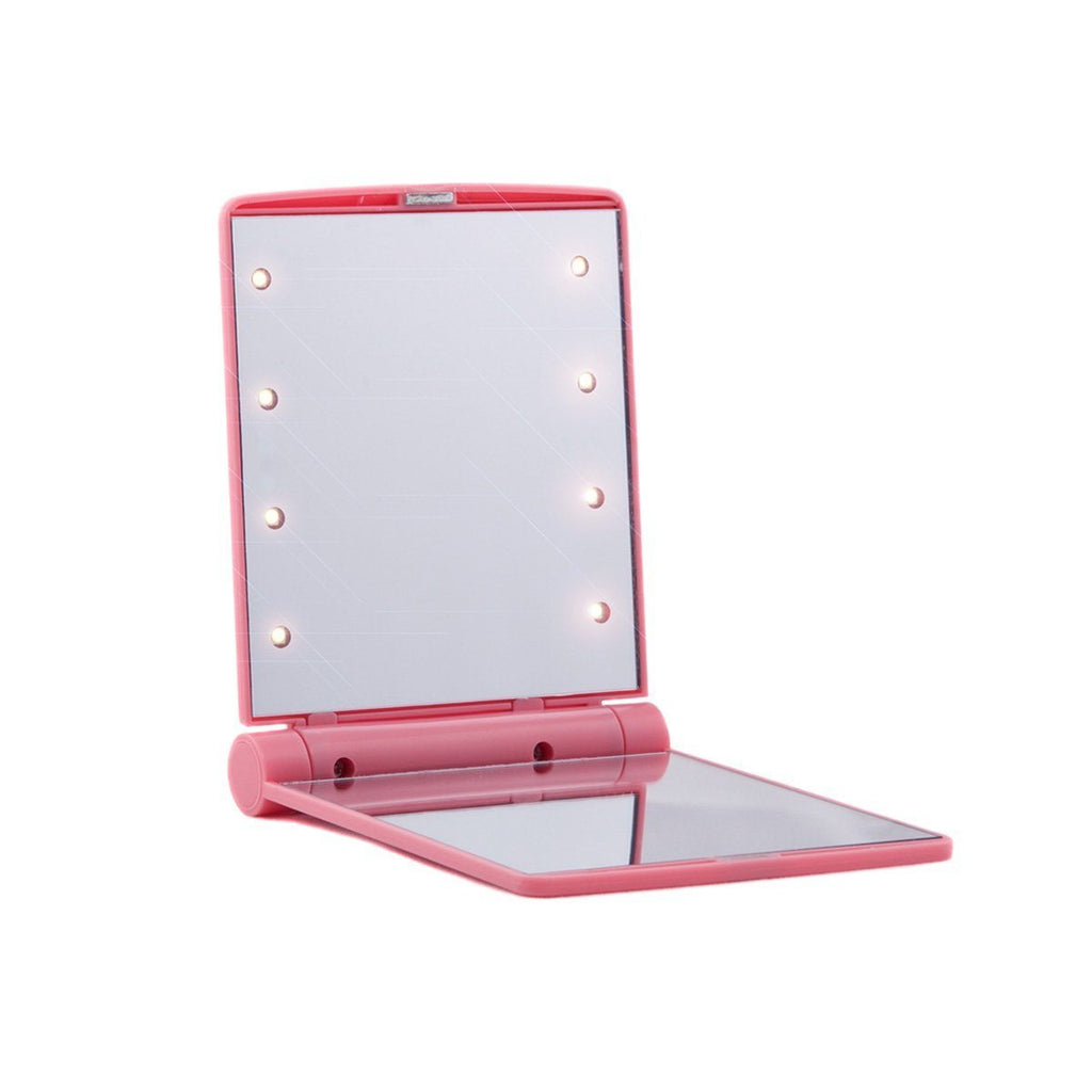 Light up compact makeup mirror