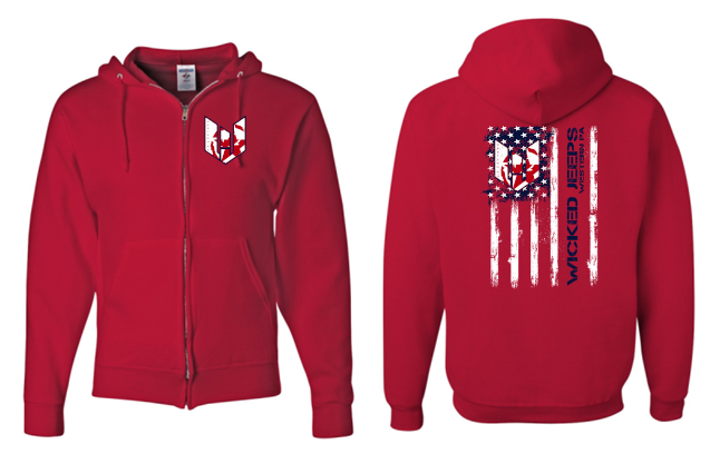 WICKED JEEP FLAG FULL-ZIP HOODIE