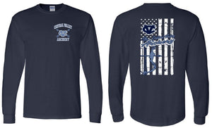 CV ARCHERY NAVY LONG SLEEVE GILDAN TSHIRT